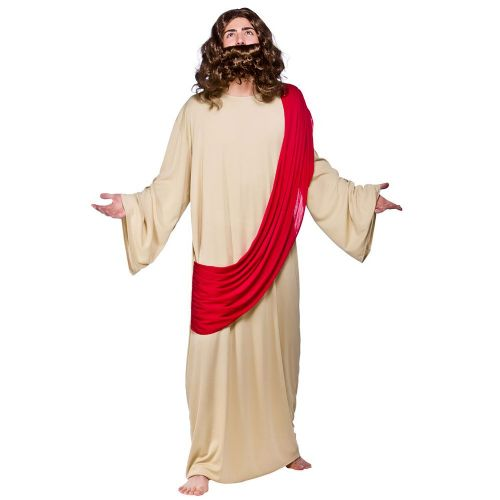 Adult Mens Jesus Costume Christmas Nazareth Disciples Noah Moses God Fancy Dress